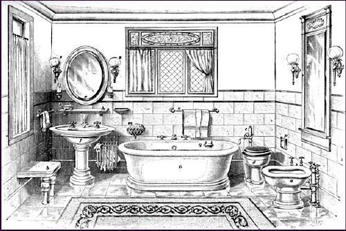 We Found These Victorian Bathroom Ilrations And Photos On The Vintage Plumbing Website