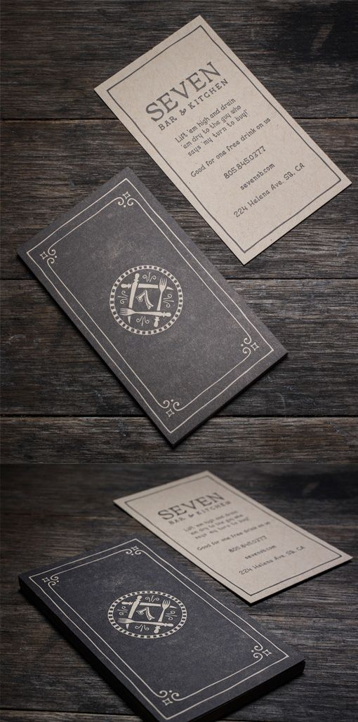 Sophisticated Vintage Style Letterpress Business Card For A