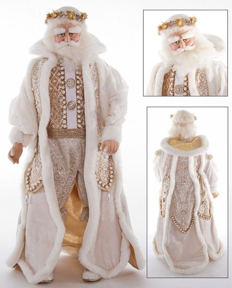 doll shop katherines collection 24 royal gold and white santa claus - White Santa Claus