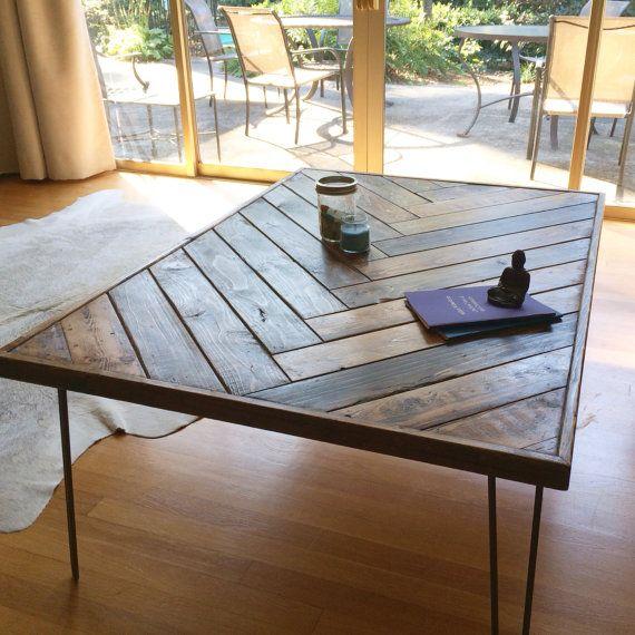 Herringbone Coffee Table - Herringbone Coffee Table Herringbone, Pallet Coffee  Tables And A - Etsy - Etsy Coffee Table IDI Design