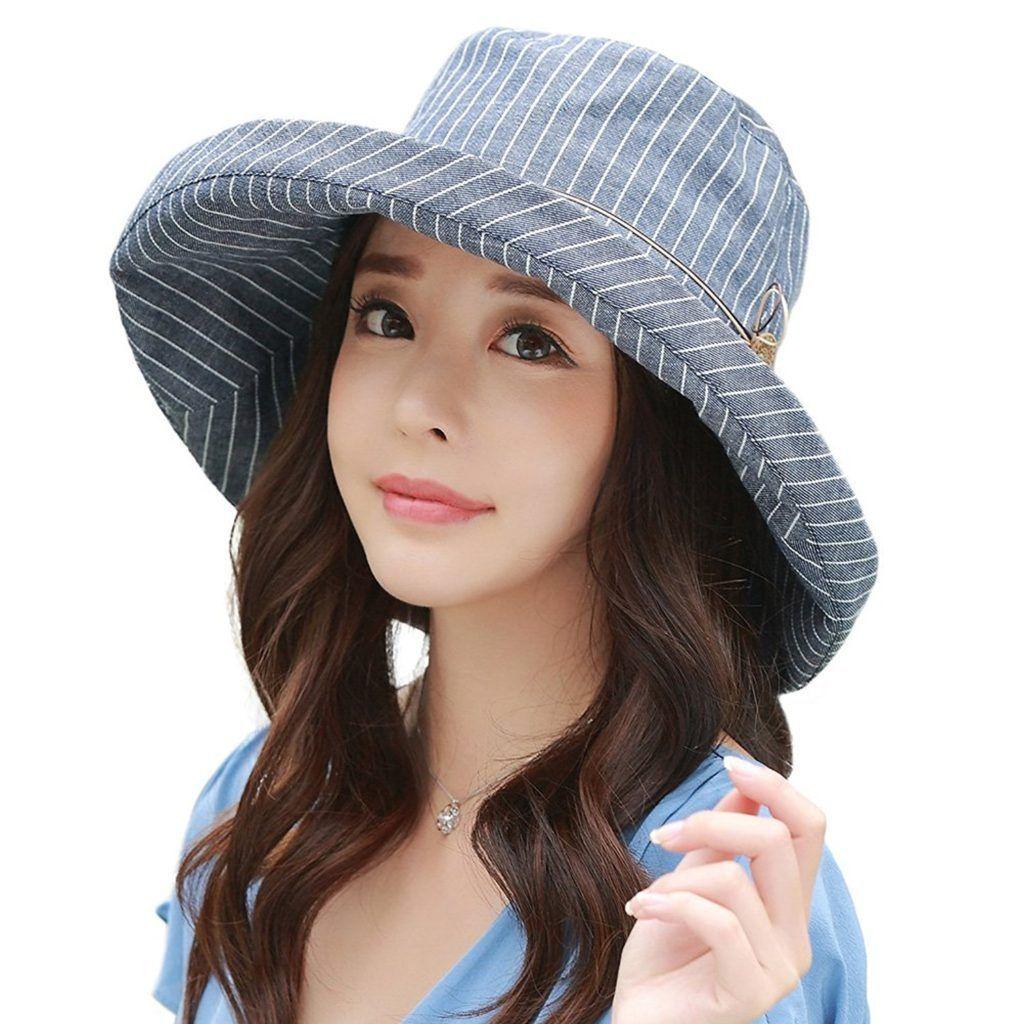 a024a271af5 SIGGI Womens UPF50 Linen Cotton Summer Sunhat Bucket Packable Hats w Chin  Cord  sunhatsforwomenpackable
