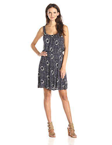 47cb750084d6 Lucky Brand Womens Batik Knit Dress Navy Multi XLarge     You can ...