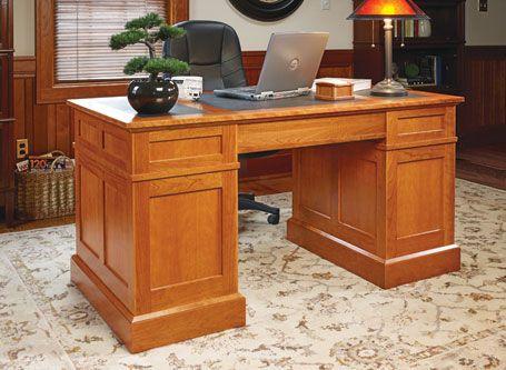 woodworking plans desk. cherry pedestal desk | woodsmith plans woodworking