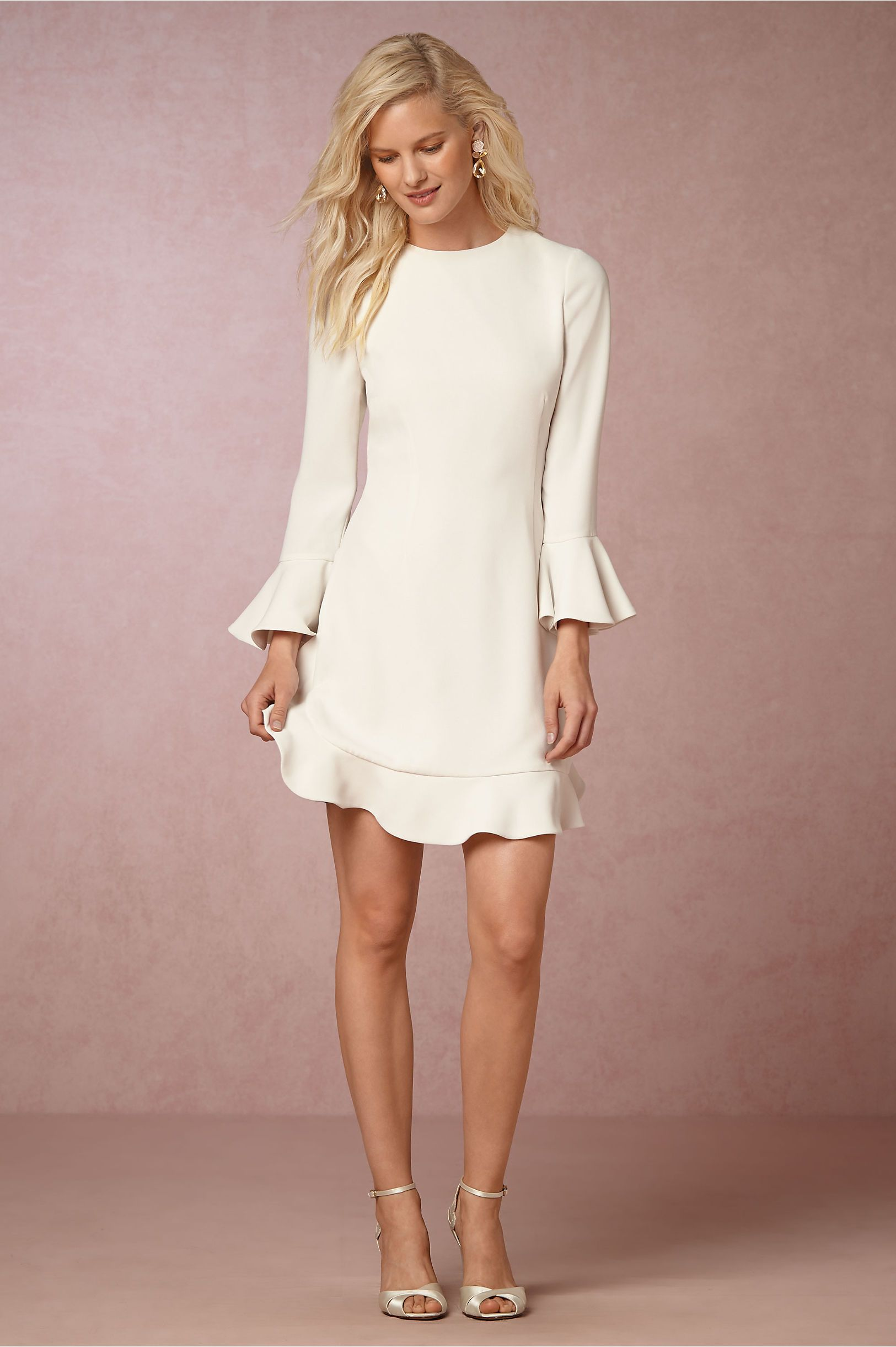 Short white dresses for wedding reception  BHLDN Jenny Dress in Bride Reception u Rehearsal Dresses  BHLDN