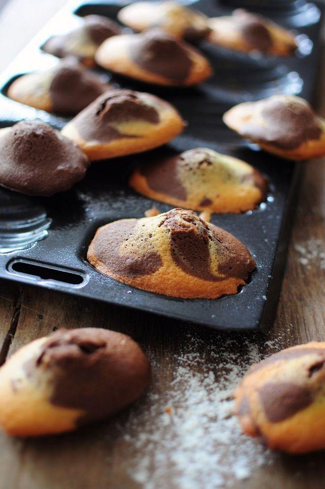 Madeleines marbrées - Blog de cuisine créative, recettes / popotte de Manue