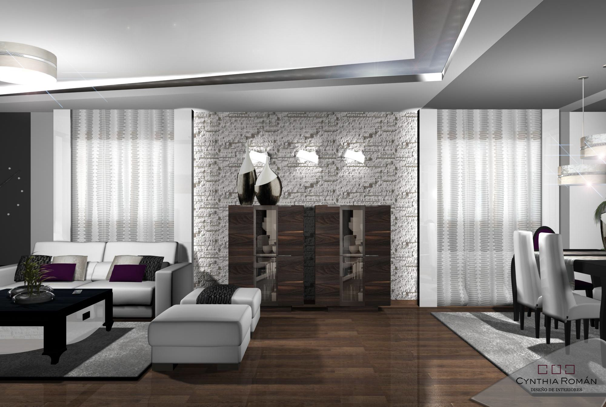 Decoracion moderno comedor sala de estar accesorios for Diseno de interiores sala de estar comedor