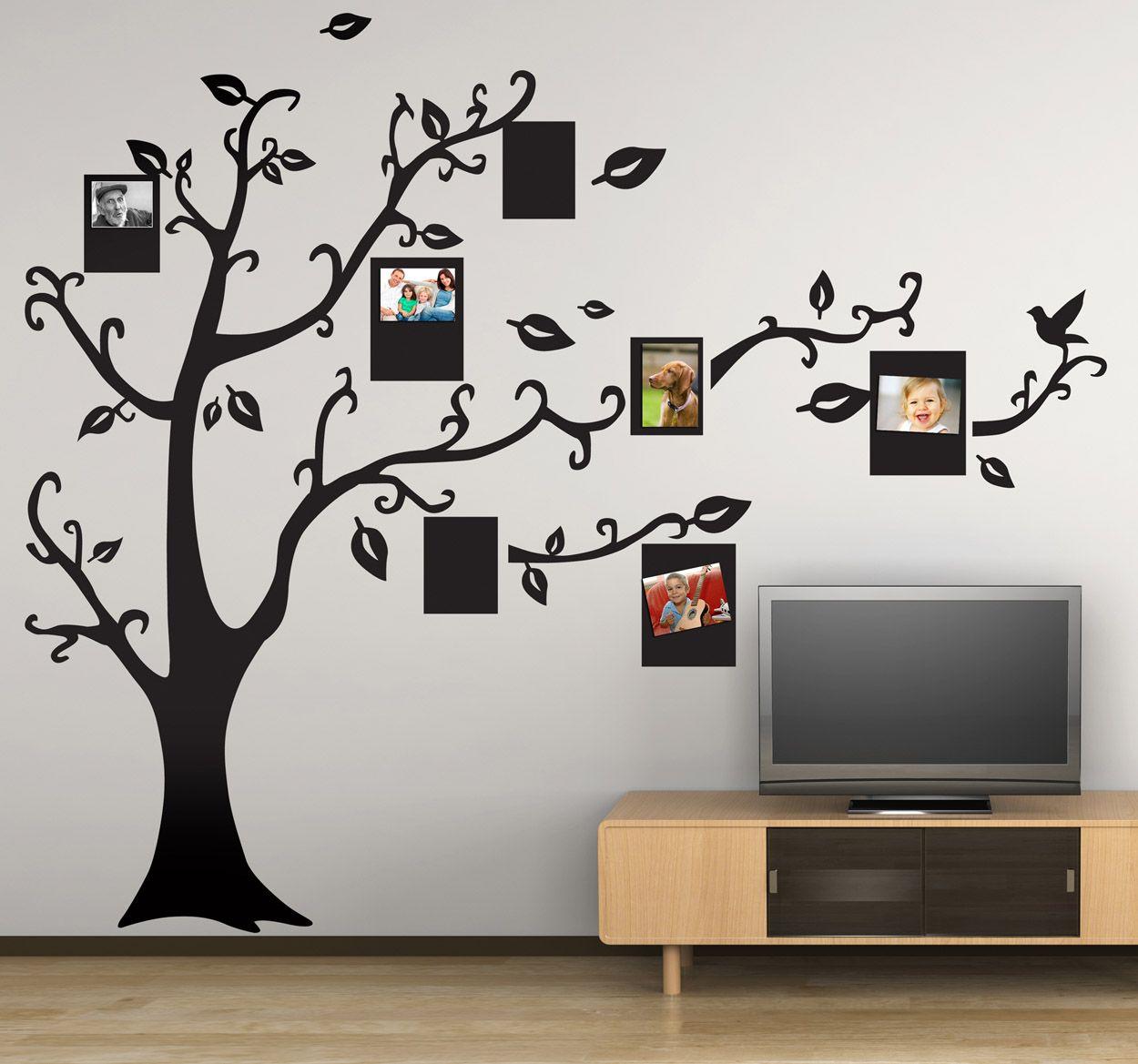 Vinilo decorativo silueta árbol fotos | Vinilos | Pinterest ...