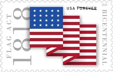 Flag Act Of 1818 Forever Stamp 2018 Forever Stamps Pinterest - United-states-forever-stamps