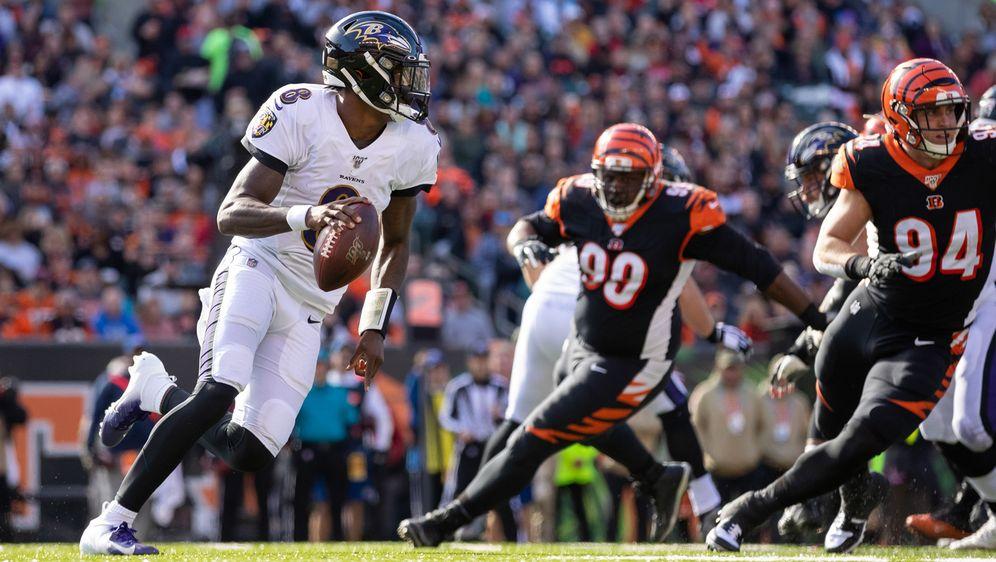 Baltimore Ravens MVPAnwärter Lamar Jackson schreibt