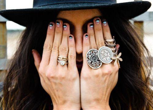 Evil Eye nails.