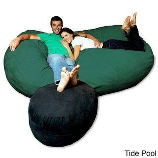 Sensational Soft Memory Foam Microsuede 7 5 Foot Beanbag Chair Lounger Alphanode Cool Chair Designs And Ideas Alphanodeonline