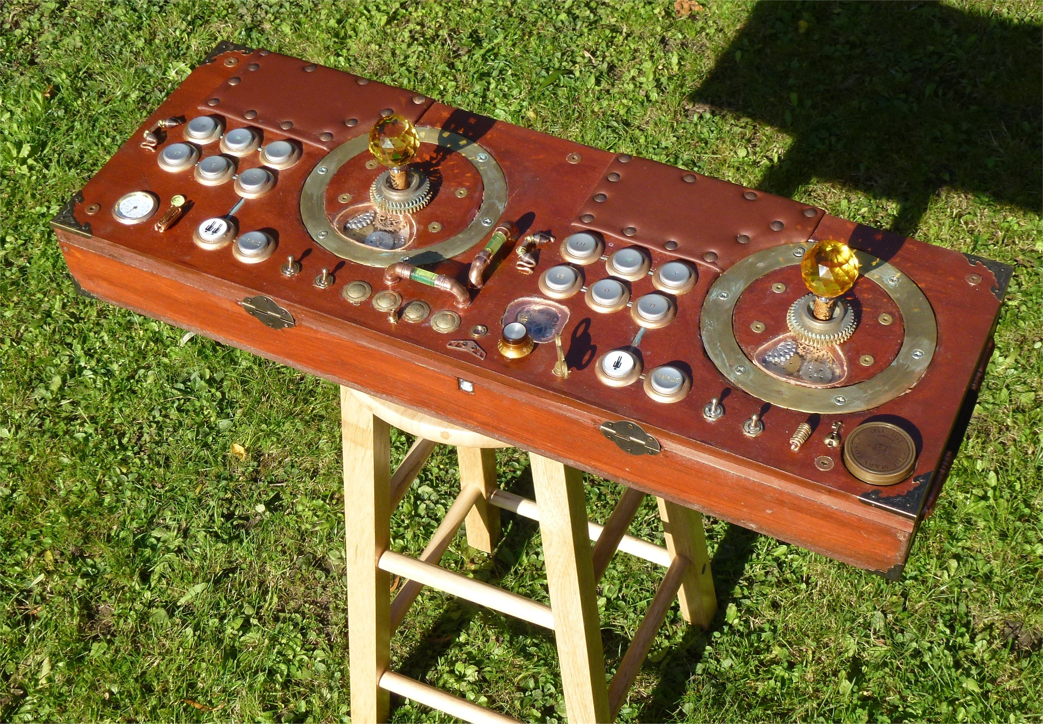 2 Player USB / PS3 Arcade Joystick - this one in a kind of Steampunk