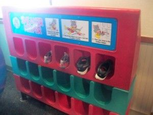 Sneaker Keepers at Chuck E. Cheese and McDonald's for playgrounds