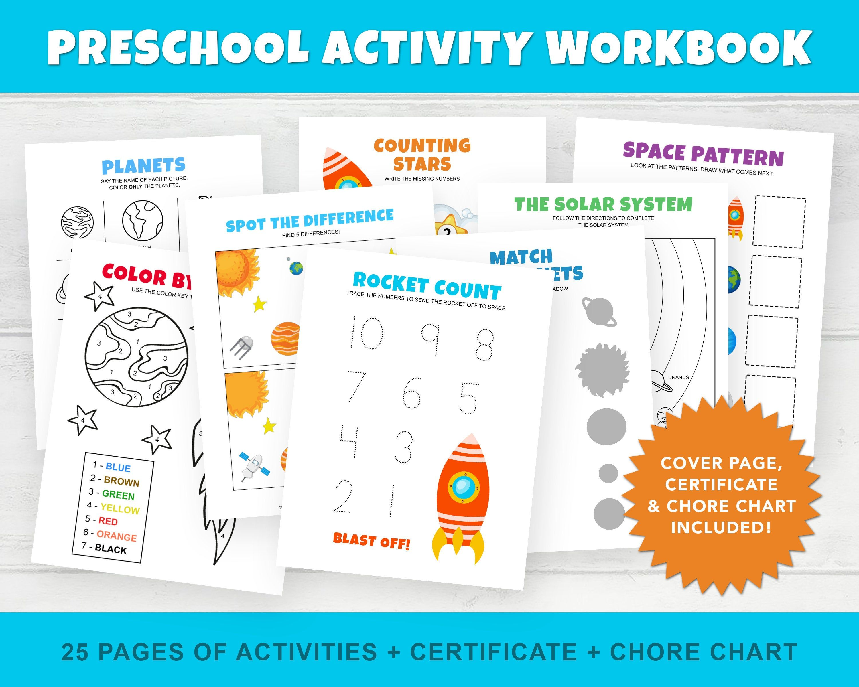 Pre K Worksheets Preschool Workbook Toddler Worksheets
