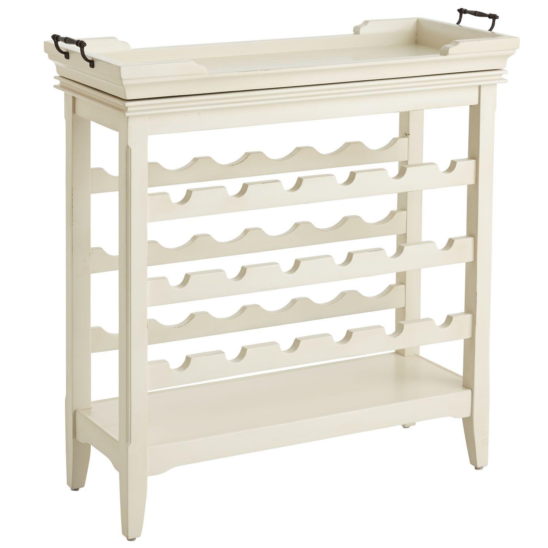 Wood Harper Wine Rack - Antique White | *Cabinets & Storage > Wine ...