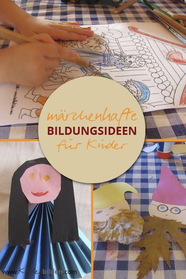 märchen ideen basteln kinder grundschule kindergarten
