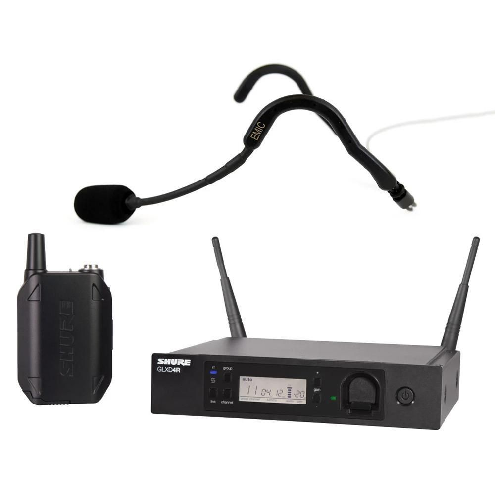 Shure Glxd14r Rack Mountable System With E Mic Fitness Headset Headset Mic Digital Audio