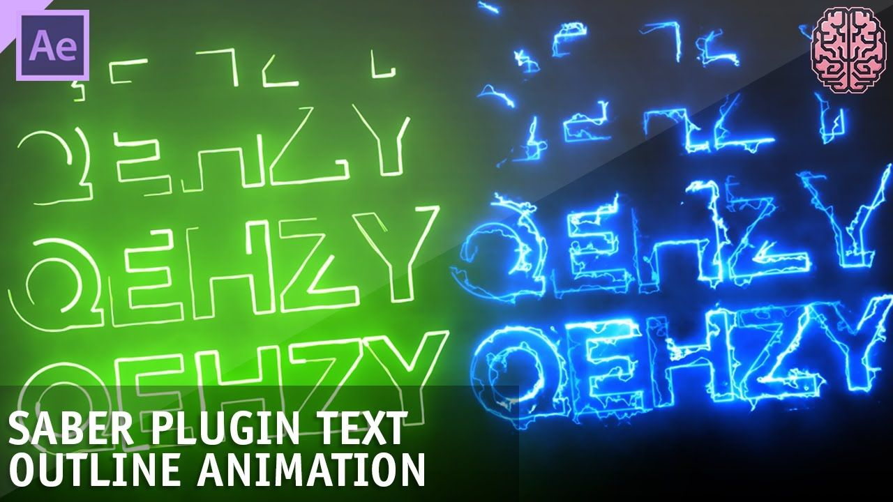 Tutorial Saber Plugin Text Animation After Effects by