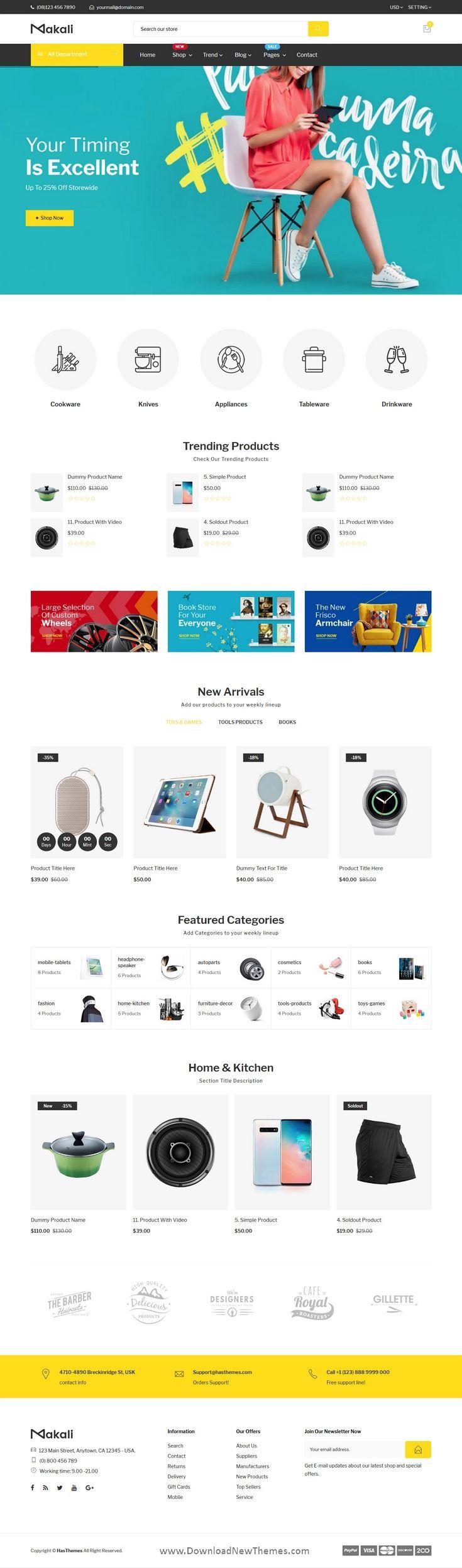 Supermarket Multipurpose Shopify Theme in 2020 Shopify