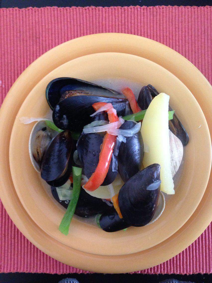 Caldito de mariscos #chilean #food
