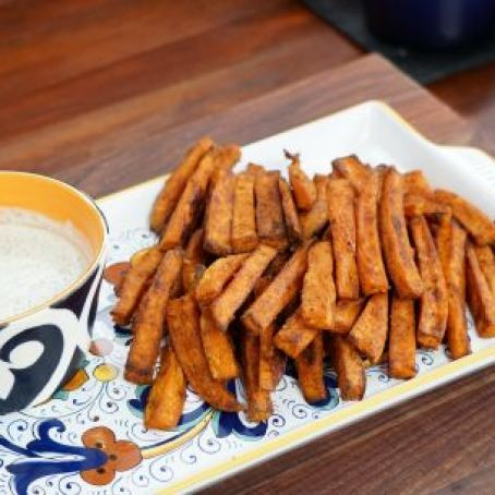 Oven-Baked Sweet Potato Fries w/Ranch Dressing (Valerie Bertinelli) Recipe