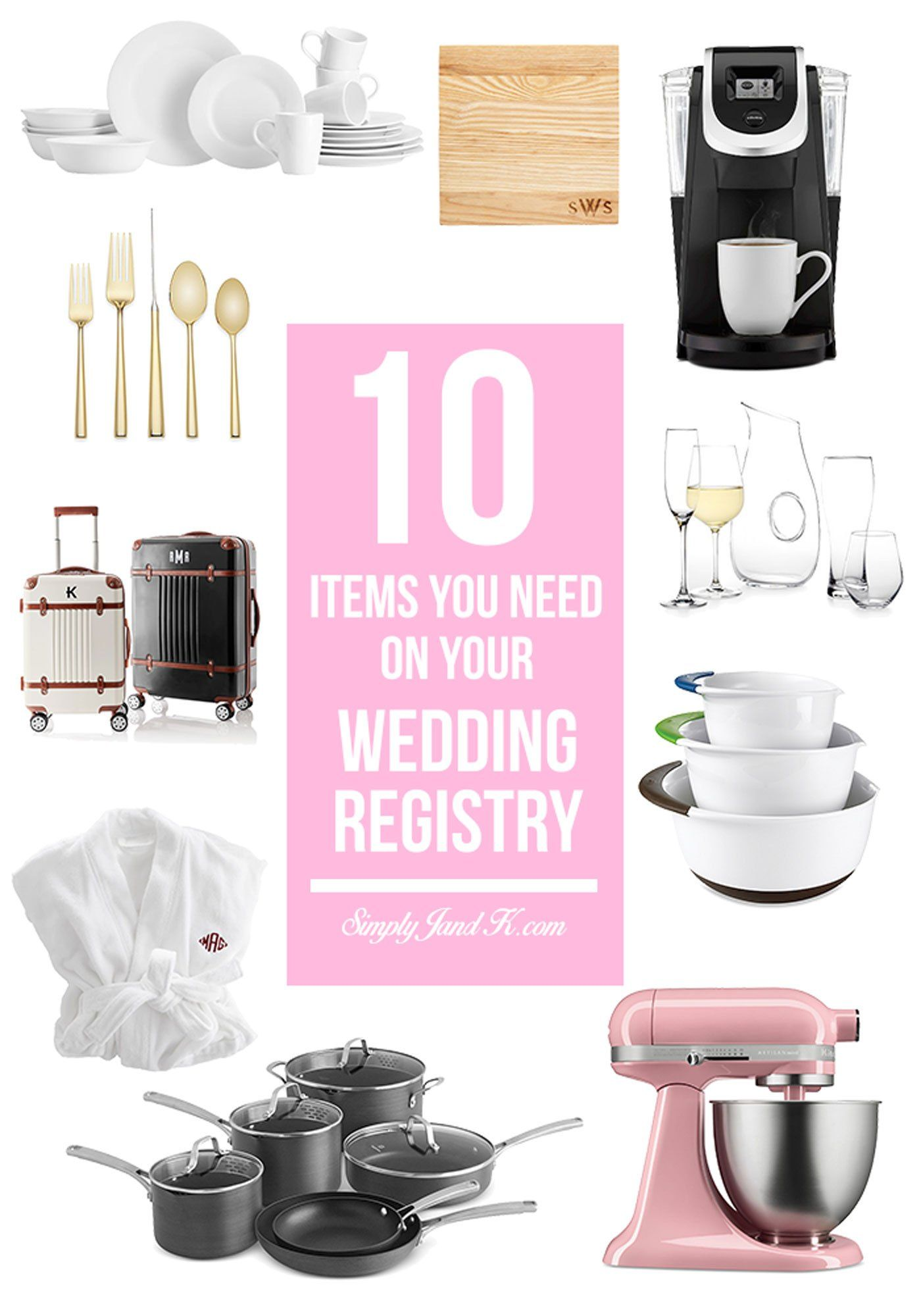 10 MustHave Items for Your Wedding Registry Wedding
