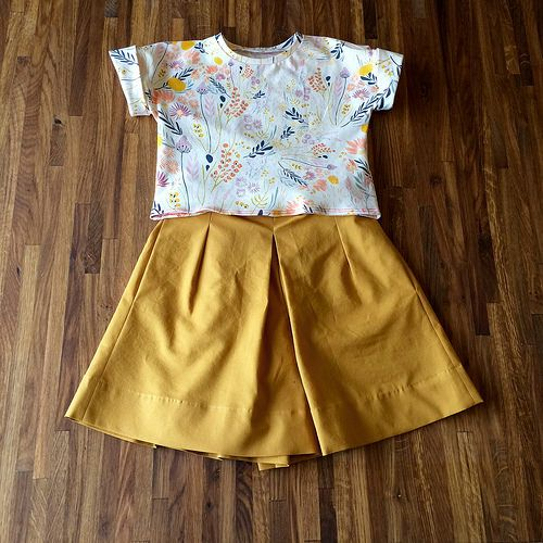 Lunch box tee and culottes   by eswalsh329
