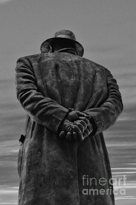 Looking Back in BW Photograph  - Looking Back in BW Fine Art Print