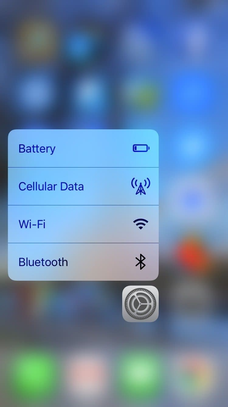 If your phone has 3D Touch (iPhone 6s or later), you can