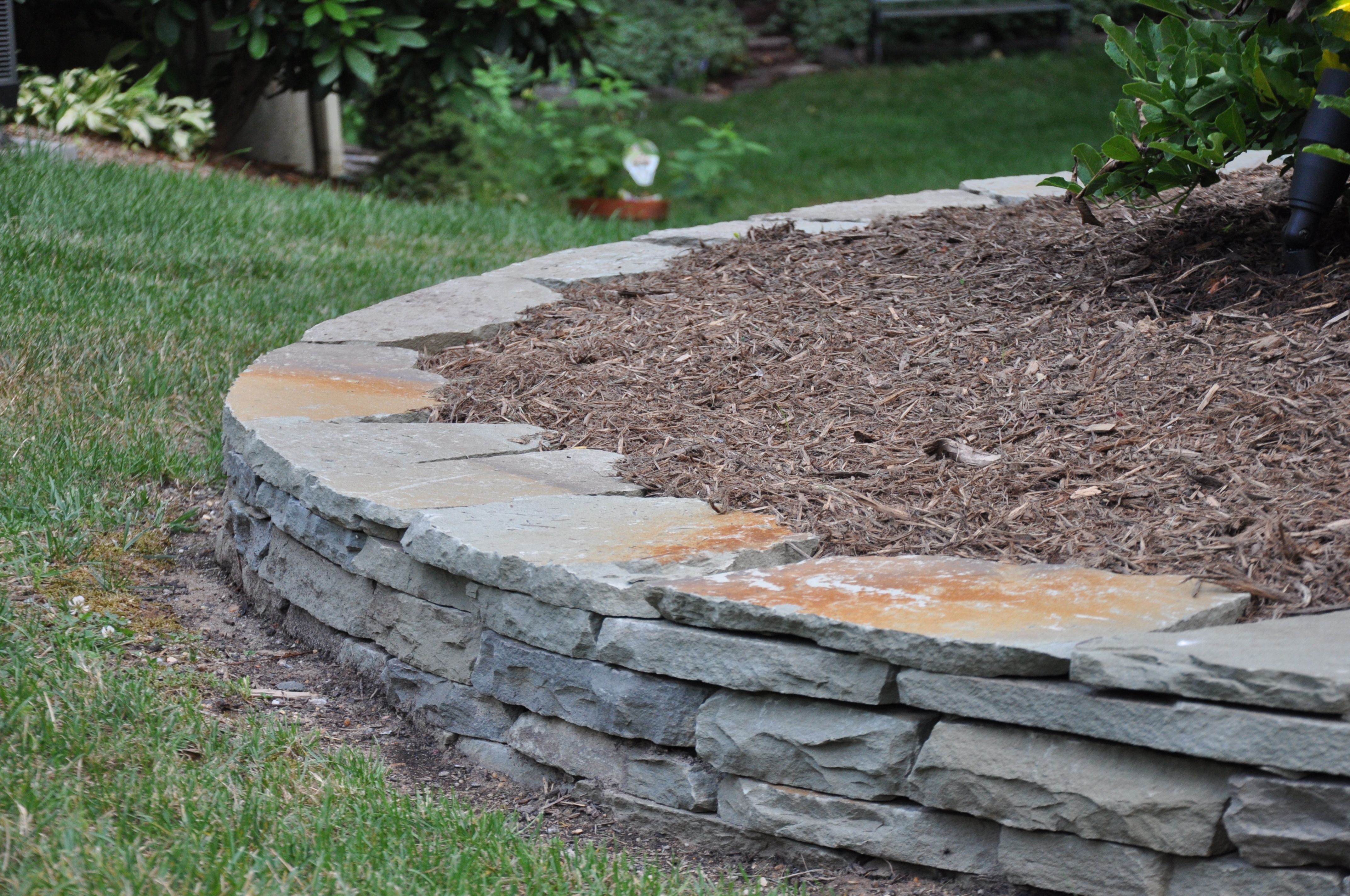 Stacked Stone Wall Colonial Wall Stone Stone Landscaping Landscaping With Rocks Stone Planters