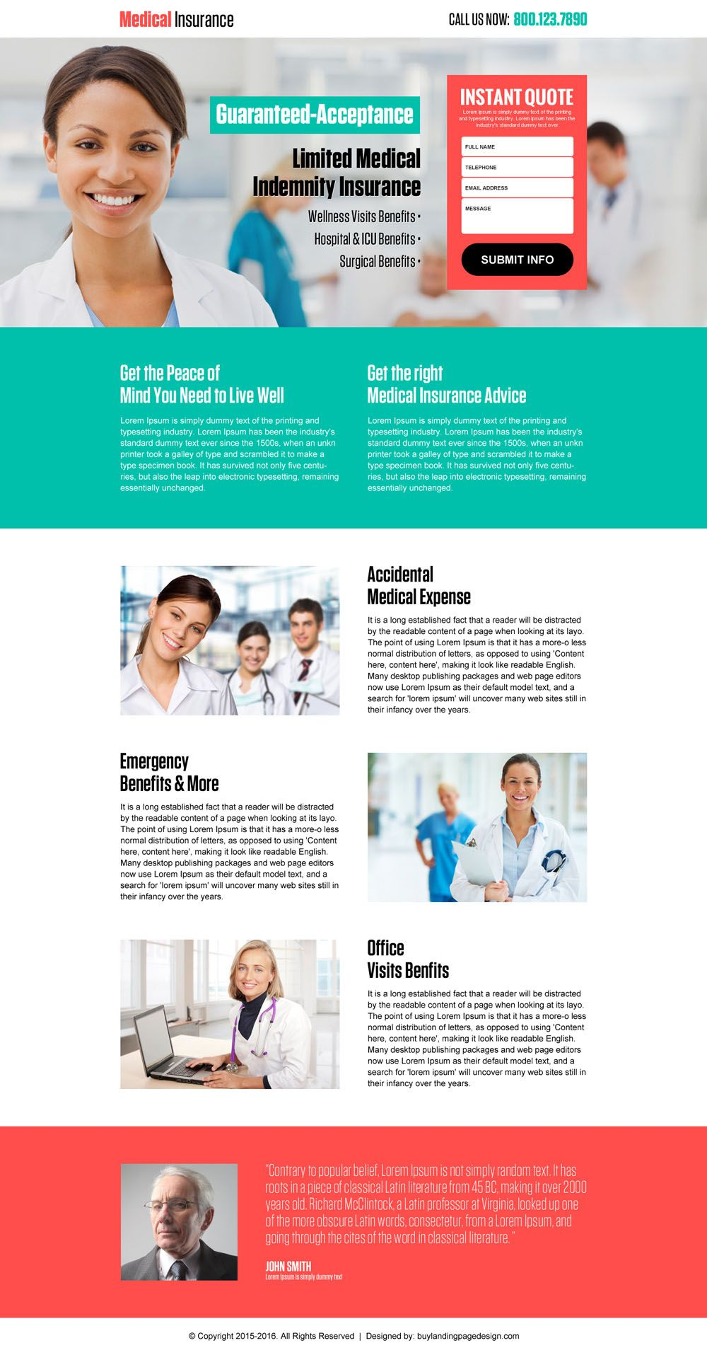 Top 10 Health And Medical Insurance Landing Pages Medical