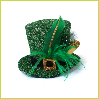 felt st Patrick day fascinator, just love this, will be making this for st Patrick's day to wear to work
