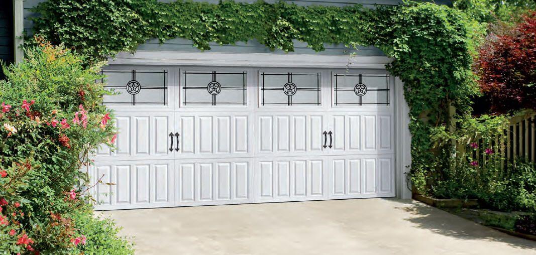 Amarr Classica Cortona Garage Door In True White With Americana Decraglass Visit Www Amarr Com For More Gr Garage Door Styles Garage Doors Steel Garage Doors