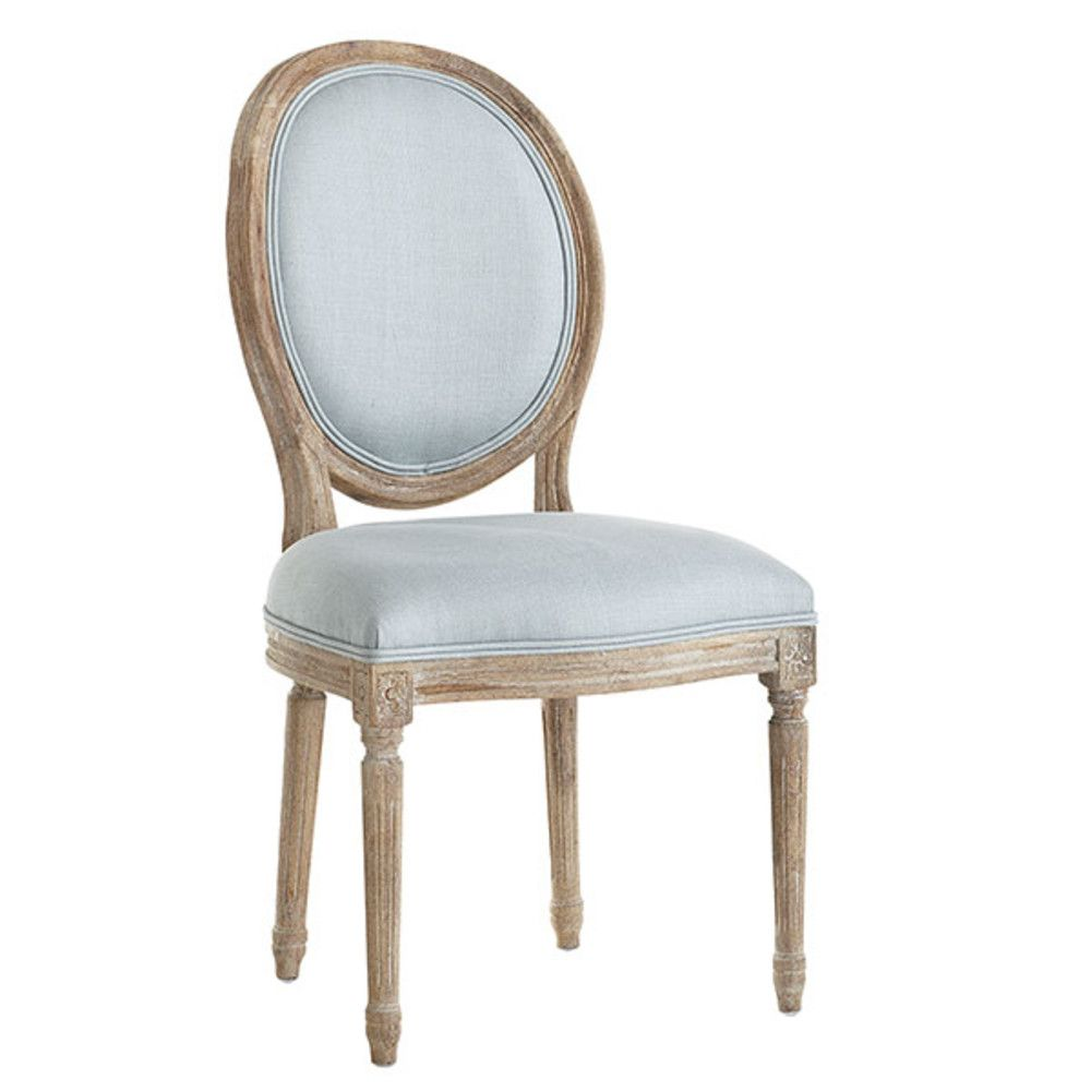 Superb Louis XVI Dining Chair   French Blue