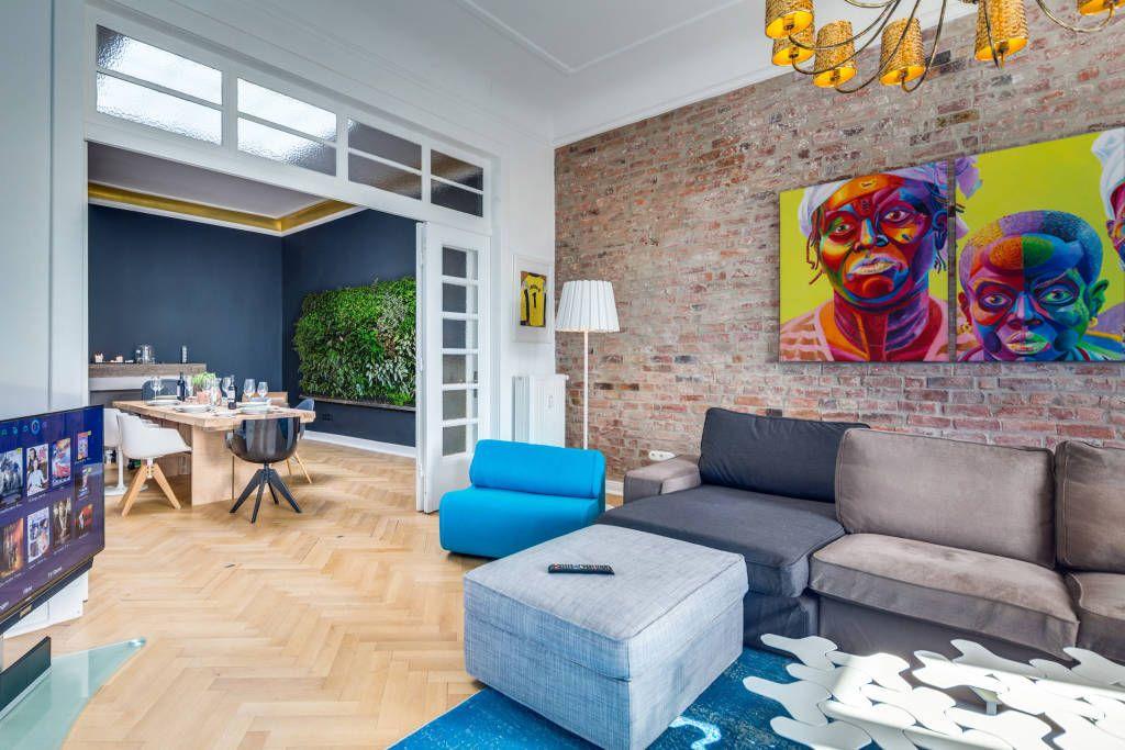 Jugendstil Wohnung/ Endetage/ Harvestehude/ Hamburg / Living-Room - design klassiker ferienwohnungen weimar