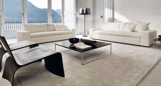 Wohnzimmer Edel ~ Simpel und edel mit weißem polster sofa kubic class home decor