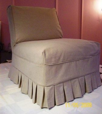 Armless Chair Slipcover Slipcovers For Chairs Reupholster Chair