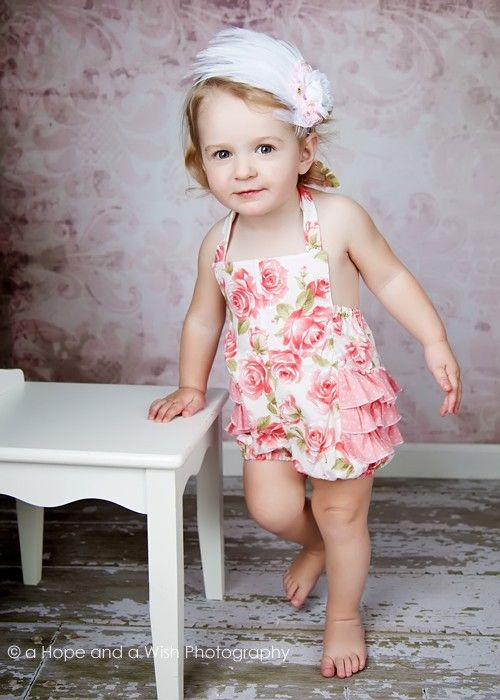 eb8dbf1e083a PDF Sewing Pattern - Ruffled Romper Pattern