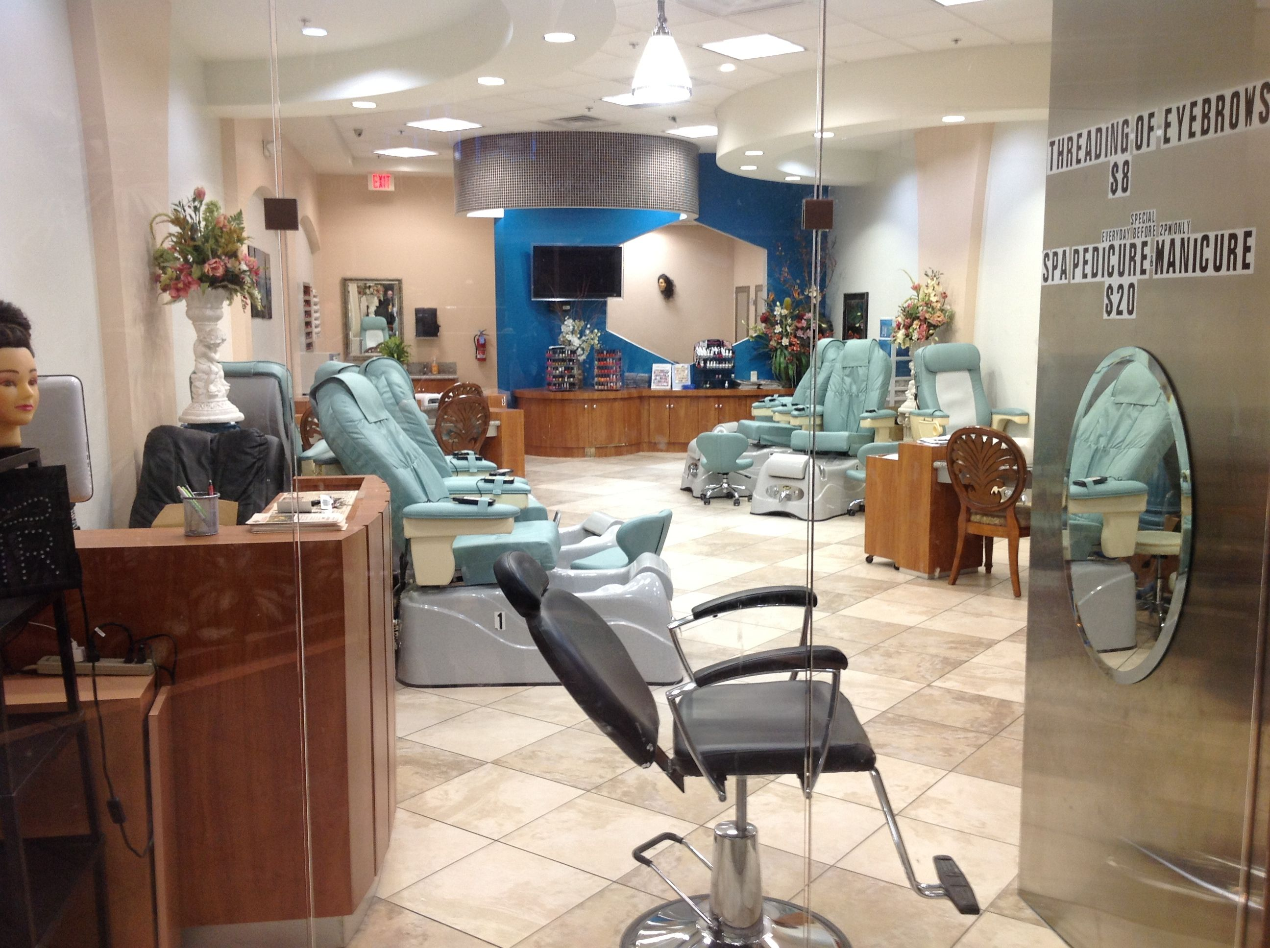 $20 mani pedis in our new massage chairs before 2 pm daily. Red ...