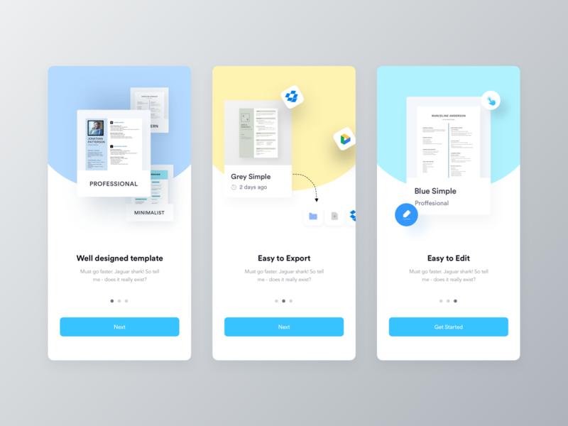 Ezy Cv Builder App Walkthrough App Design Cv Builder Lettering Design
