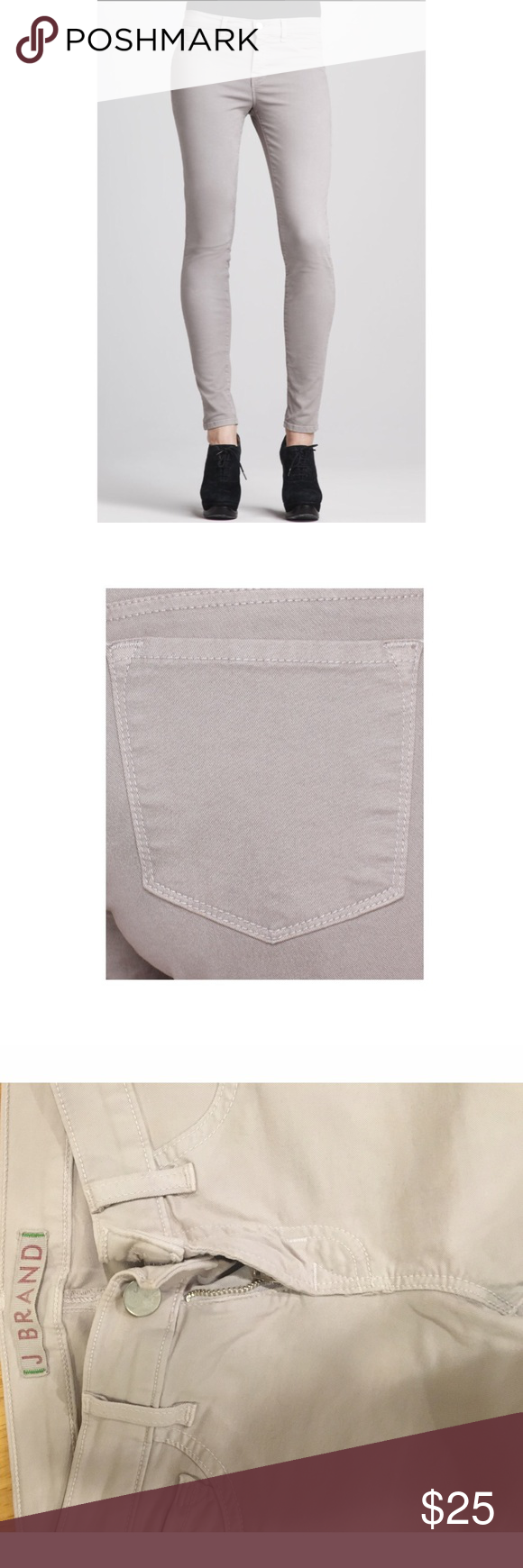 J brand twill J brand skinnies, French gray, size 25 J Brand Pants Skinny