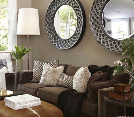 Espejos Decorativos Walls, Living rooms and Modern bohemian - Brown Couch Living Room