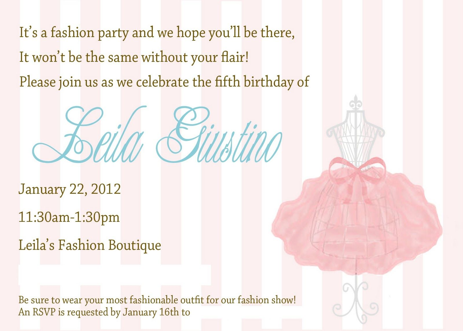 Glitter and Gloss Leilas Fashion Birthday Party Party