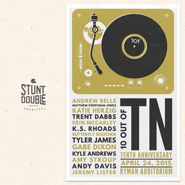 10-out-of-TN | Tenth Anniv concert poster  [04-24-2015]