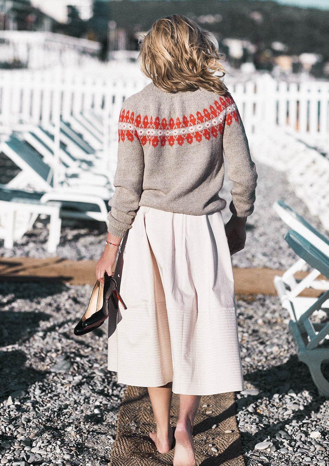 6ecf72f4 Sandnes Garn, Vendela Genser | Knitwear | Genser, Strikkeoppskrift ...