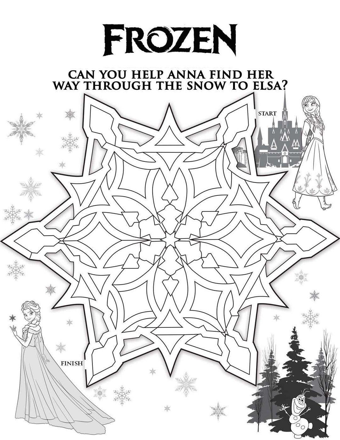Frozen Worksheets Coloring Printable | Frozen coloring ...