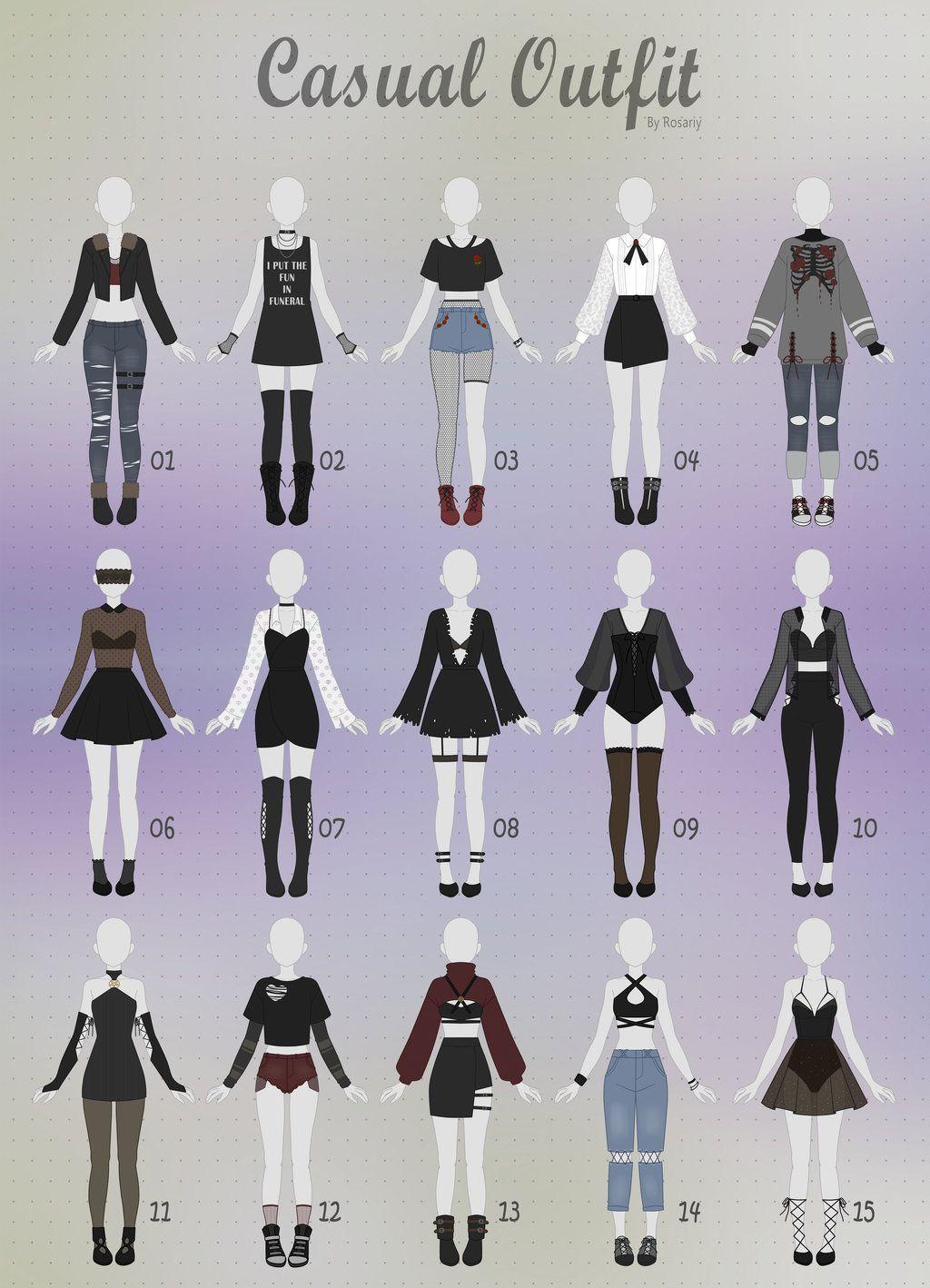 Cute Anime Girl Outfit Ideas : anime, outfit, ideas, Monotone, Katsuki, Bakugou, Reader, Chapter, Clothes,, Fashion, Design, Sketches,, Anime, Outfits