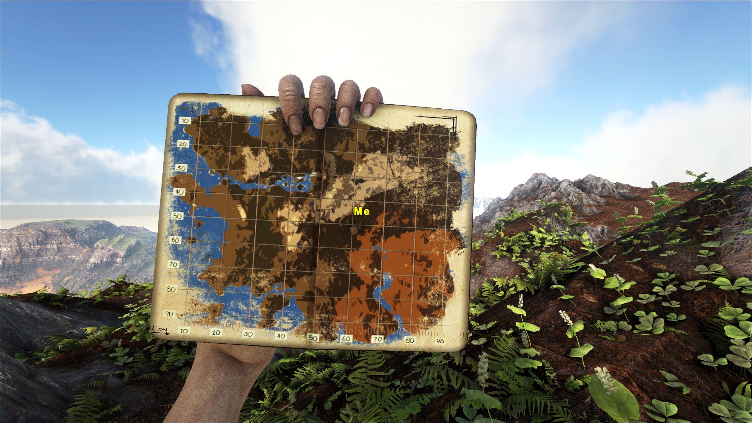 Ragnarok Map Ark Survival Evolved Landscape Ragnarok Map