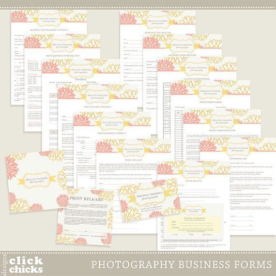 Photography Business Forms And Contracts By Clickchicksdesigns