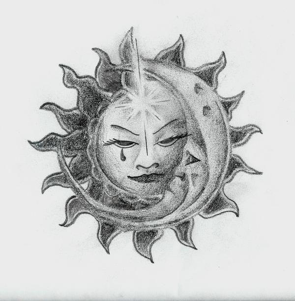 sun/moon sketch in My drawings by